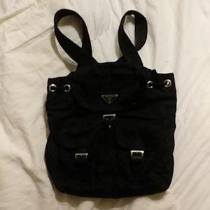 Prada Nylon Black drawstring Backpack
